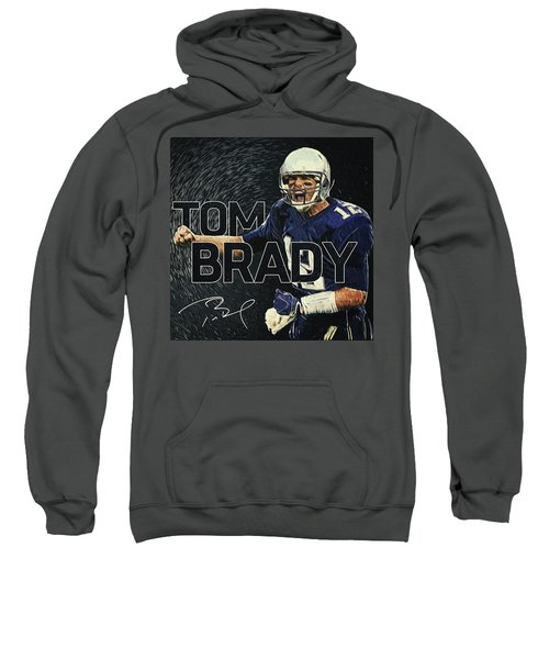 Tom Brady Sweatshirt by Taylan Apukovska