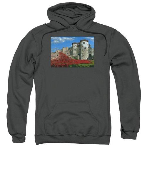 Tower Of London Poppies - Blood Swept Lands And Seas Of Red  Sweatshirt by Richard Harpum