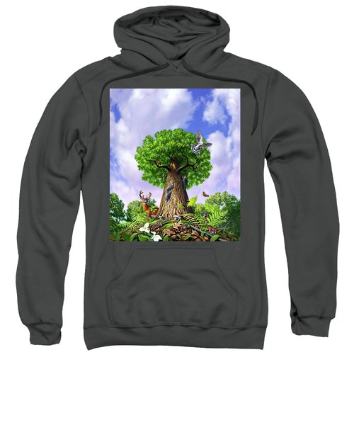 Tree Of Life Sweatshirt by Jerry LoFaro
