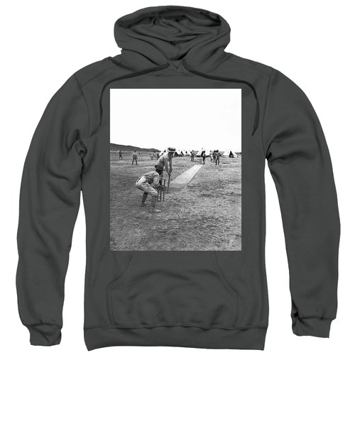 Troops Playing Cricket Sweatshirt by Underwood Archives