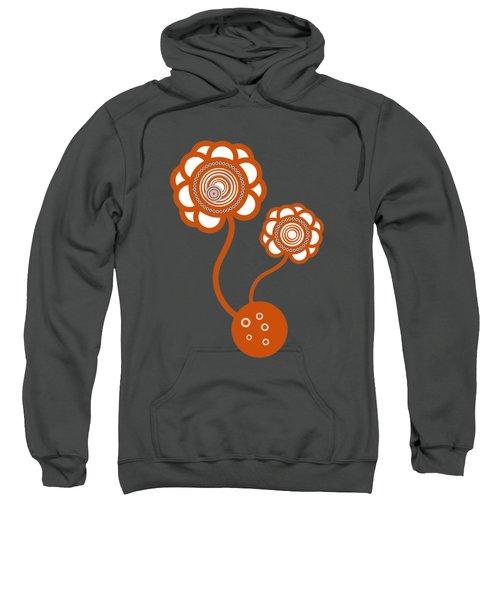 Two Orange Flowers Sweatshirt by Frank Tschakert