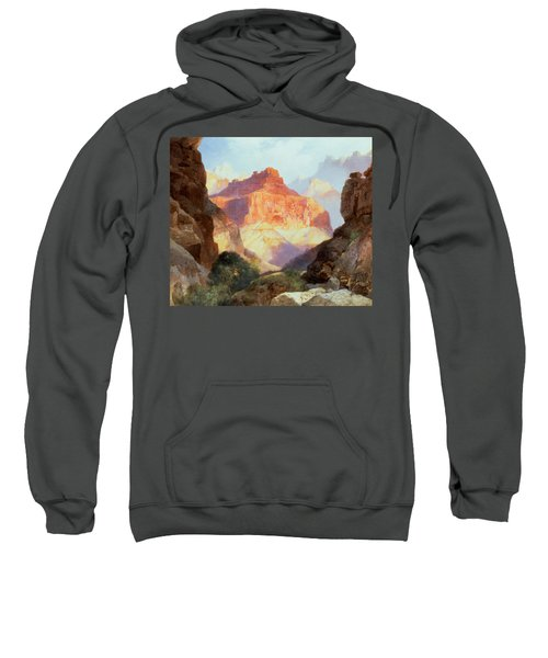 Under The Red Wall Sweatshirt by Thomas Moran