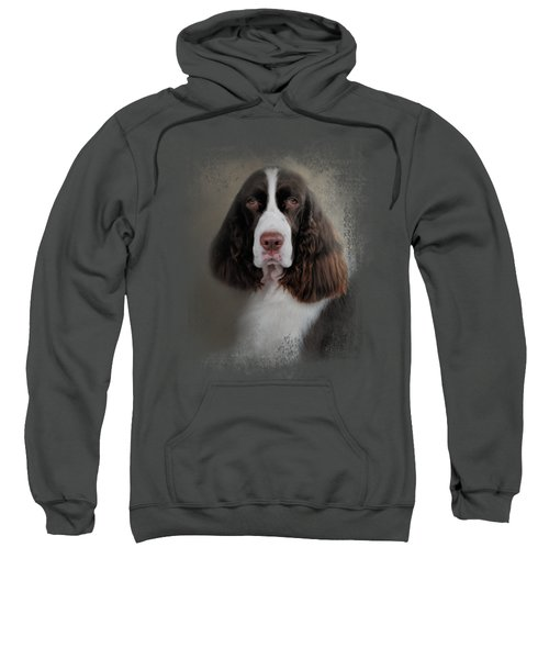Waiting Patiently - English Springer Spaniel Sweatshirt by Jai Johnson