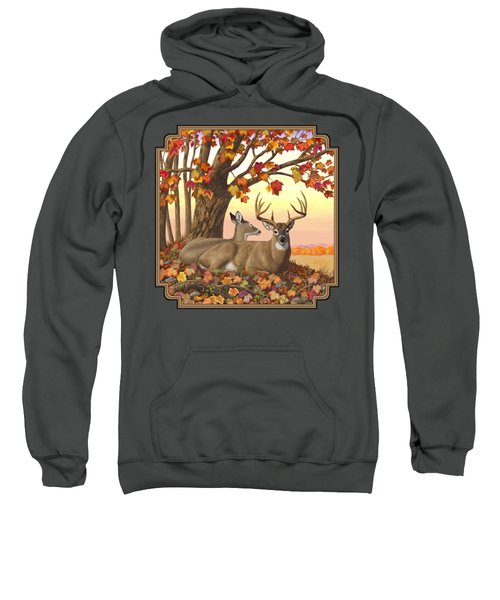 Whitetail Deer - Hilltop Retreat Sweatshirt by Crista Forest