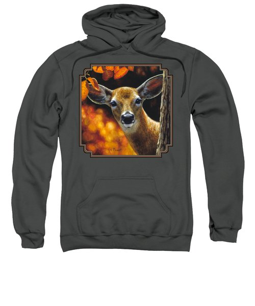 Whitetail Deer - Surprise Sweatshirt by Crista Forest