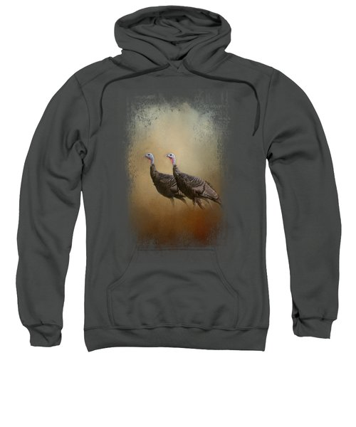 Wild Turkey At Shiloh Sweatshirt by Jai Johnson