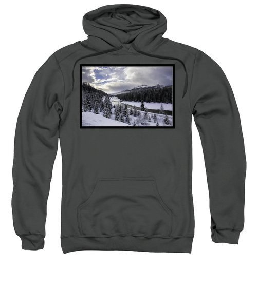 Winter In The Rockies Sweatshirt by J and j Imagery