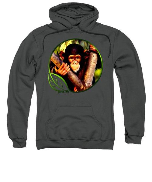 Young Chimpanzee Sweatshirt by Dan Pagisun