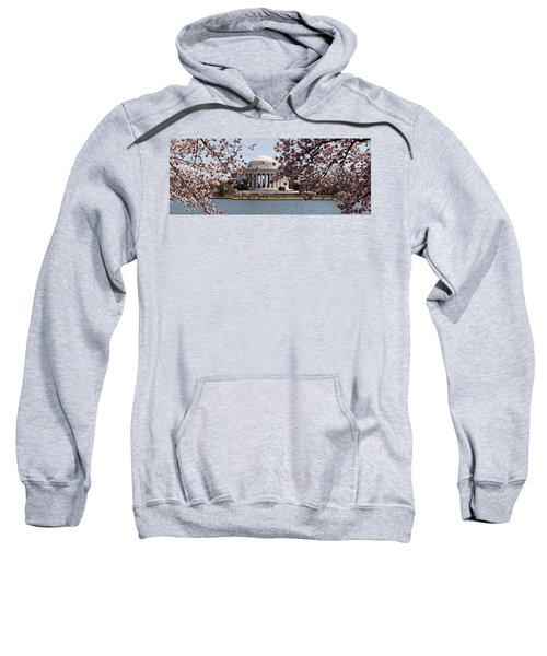 Cherry Blossom Trees In The Tidal Basin Sweatshirt by Panoramic Images
