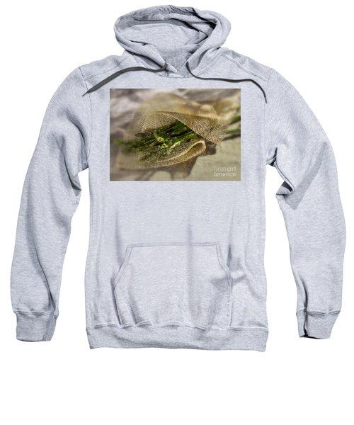 Green Asparagus On Burlab Sweatshirt by Iris Richardson
