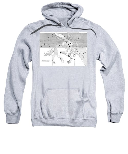 Sagittarius Constellation Zodiac Sign Sweatshirt by Science Source