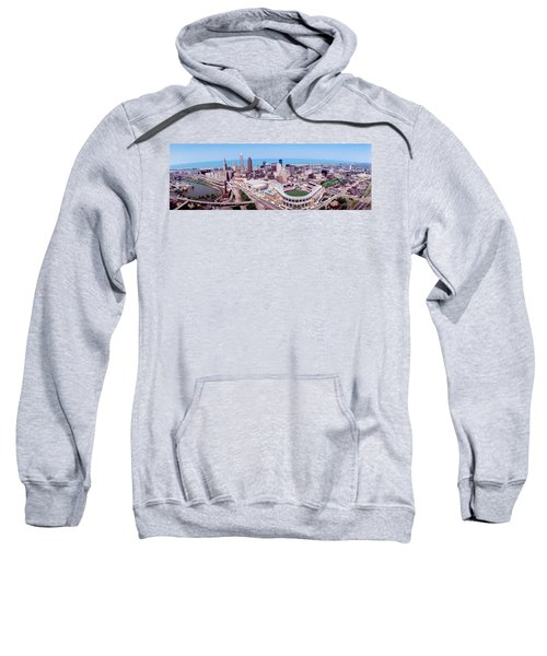 Aerial View Of Jacobs Field, Cleveland Sweatshirt by Panoramic Images