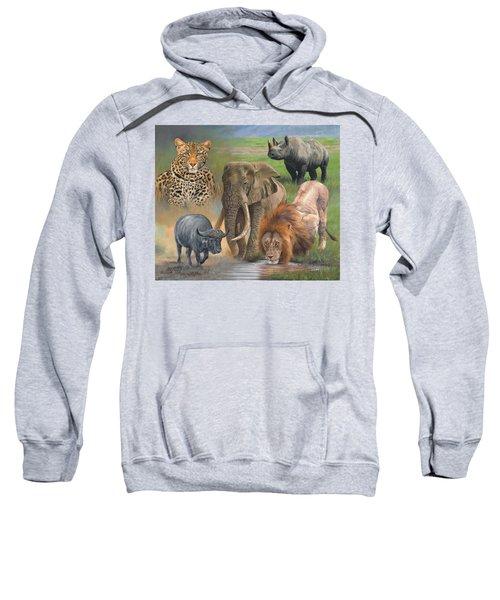 Africa's Big Five Sweatshirt by David Stribbling