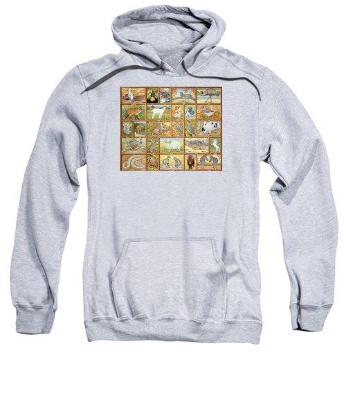 Alphabetical Animals Sweatshirt by Ditz