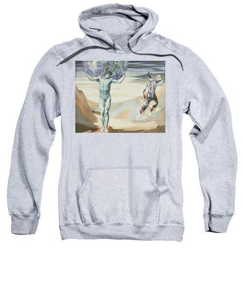 Atlas Turned To Stone, C.1876 Sweatshirt by Sir Edward Coley Burne-Jones