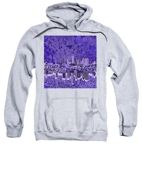 Austin Texas Skyline 4 Sweatshirt by Bekim Art
