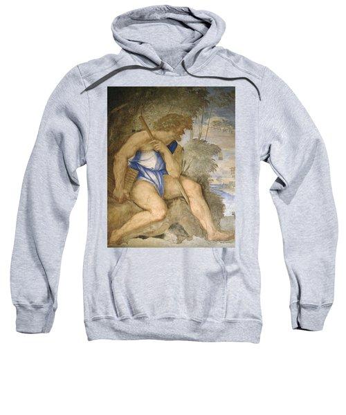 Baldassare Peruzzi 1481-1536. Italian Architect And Painter. Villa Farnesina. Polyphemus. Rome Sweatshirt by Baldassarre Peruzzi