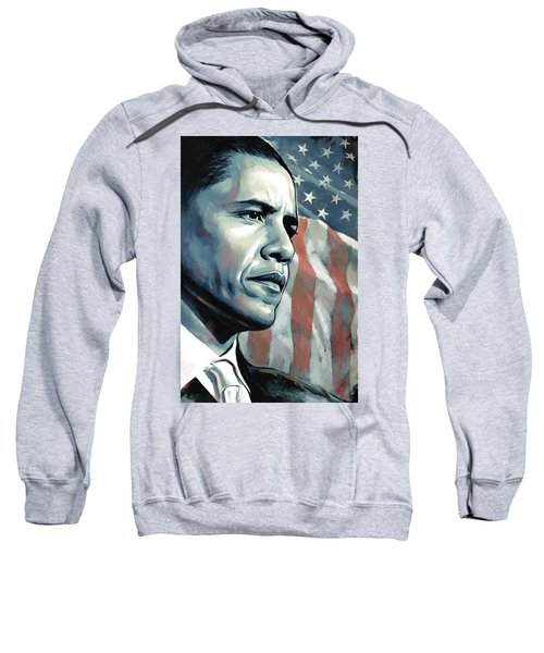 Barack Obama Artwork 2 B Sweatshirt by Sheraz A
