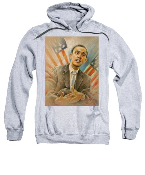 Barack Obama Taking It Easy Sweatshirt by Miki De Goodaboom