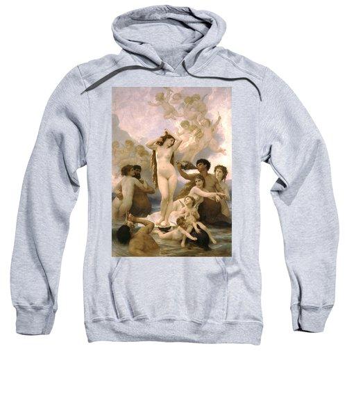 Birth Of Venus Sweatshirt by William Bouguereau