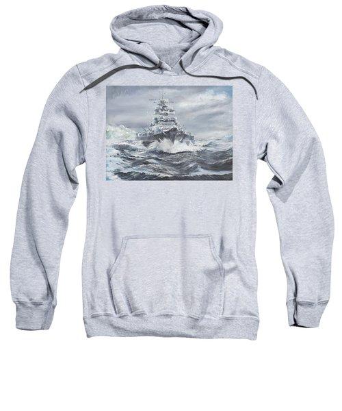 Bismarck Off Greenland Coast  Sweatshirt by Vincent Alexander Booth