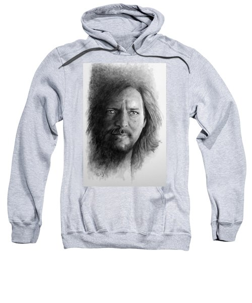 Black And White Vedder Sweatshirt by William Walts