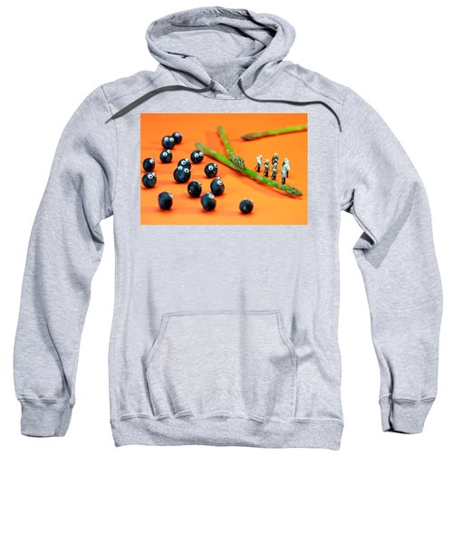 Blueberry Protesting Sweatshirt by Paul Ge