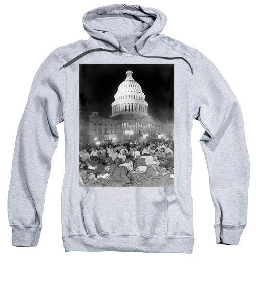Bonus Army Sleeps At Capitol Sweatshirt by Underwood Archives