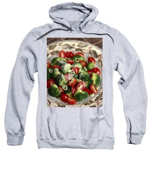 Broccoli And Tomato Salad Sweatshirt by Iris Richardson