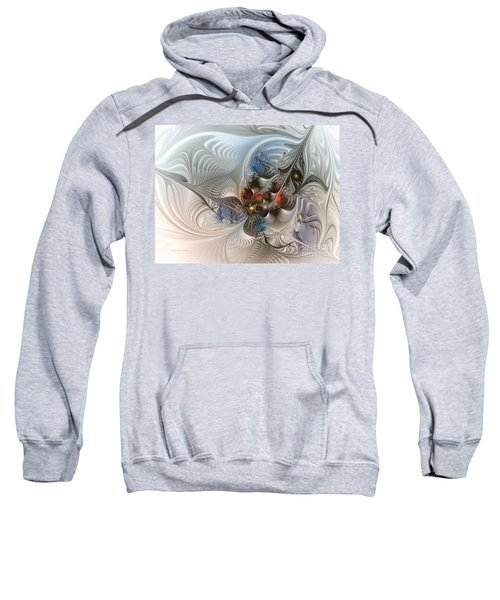 Cloud Cuckoo Land-fractal Art Sweatshirt by Karin Kuhlmann