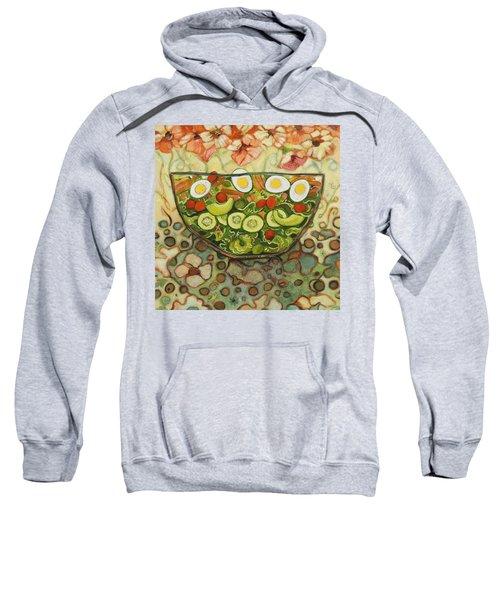 Cool Summer Salad Sweatshirt by Jen Norton