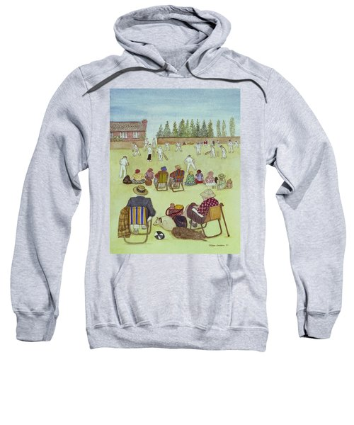 Cricket On The Green, 1987 Watercolour On Paper Sweatshirt by Gillian Lawson
