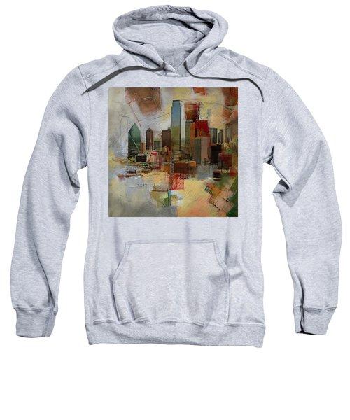 Dallas Skyline 003 Sweatshirt by Corporate Art Task Force