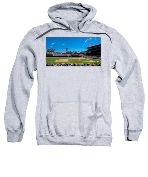 Day Game At Wrigley Field Sweatshirt by Anthony Doudt