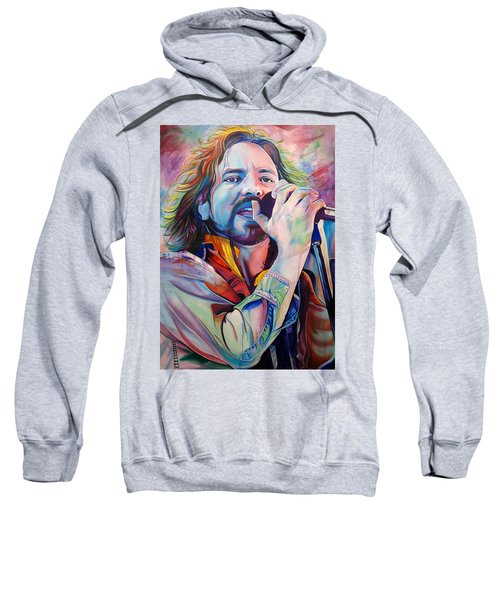 Eddie Vedder In Pink And Blue Sweatshirt by Joshua Morton
