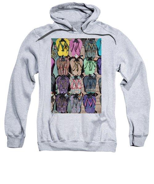 Flip Flops Sweatshirt by Peter Tellone
