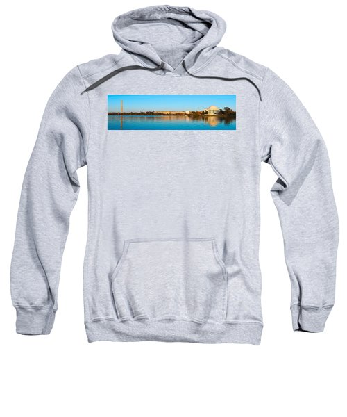 Jefferson Memorial And Washington Sweatshirt by Panoramic Images