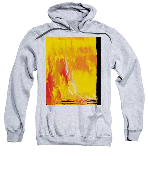 Lemon Yellow Sun Sweatshirt by Roz Abellera Art