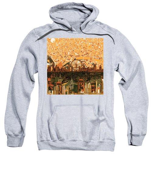 London Skyline Abstract 7 Sweatshirt by Bekim Art