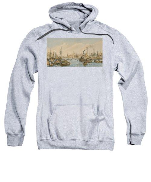 Looking Towards London Bridge Sweatshirt by William Parrot