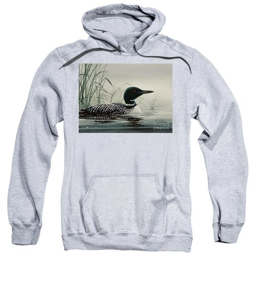 Loon Near The Shore Sweatshirt by James Williamson