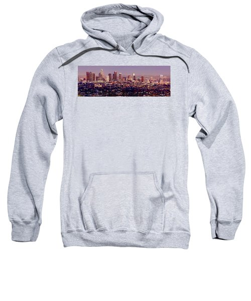 Los Angeles Skyline At Dusk Sweatshirt by Jon Holiday