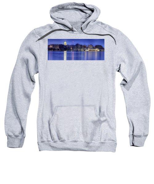 Madison Skyline Reflection Sweatshirt by Sebastian Musial