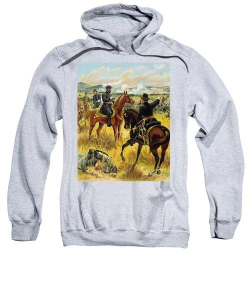 Major General George Meade At The Battle Of Gettysburg Sweatshirt by Henry Alexander Ogden