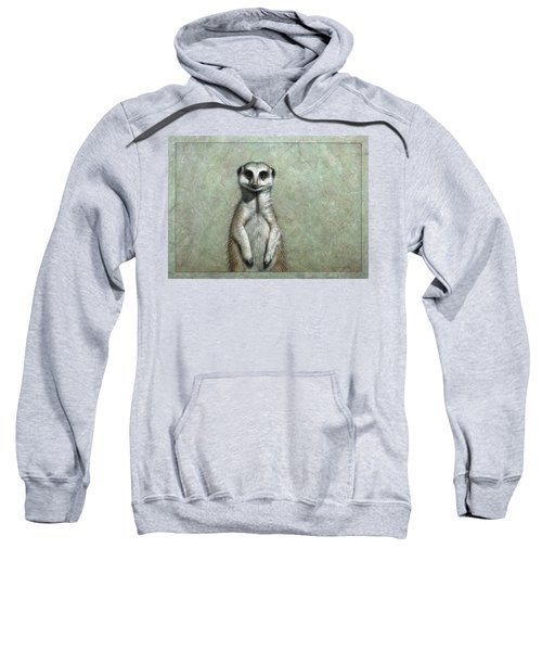 Meerkat Sweatshirt by James W Johnson