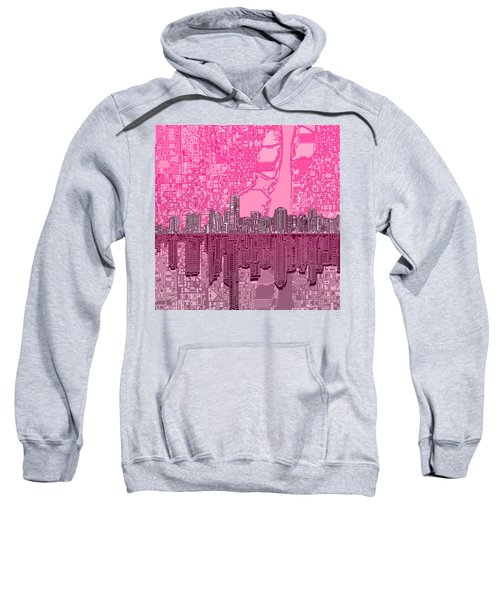 Miami Skyline Abstract 4 Sweatshirt by Bekim Art