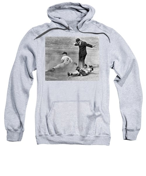 Mickey Mantle Steals Second Sweatshirt by Underwood Archives