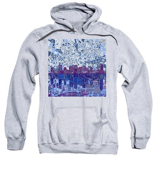 Nashville Skyline Abstract 8 Sweatshirt by Bekim Art