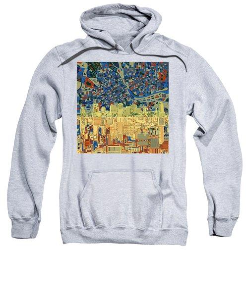 Nashville Skyline Abstract 9 Sweatshirt by Bekim Art