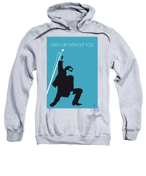 No035 My U2 Minimal Music Poster Sweatshirt by Chungkong Art